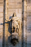 Sculpture of the Milan Cathedral Royalty Free Stock Images