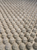 Sculpture miniature of the heads Royalty Free Stock Photo