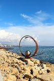 Sculpture in Molos park, Limassol Stock Photography