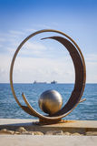 Sculpture in Molos Park at Promenade alley in Limassol, Cyprus Stock Photography