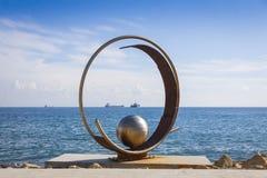 Sculpture in Molos Park at Promenade alley in Limassol, Cyprus Royalty Free Stock Photos