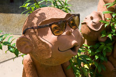 Sculpture of a monkey Stock Photo