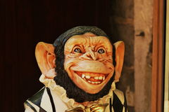 Sculpture of a monkey Royalty Free Stock Images
