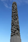Sculpture Monolith in the Vigeland Park Royalty Free Stock Photos