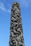 Sculpture Monolith in the Vigeland Park Stock Image