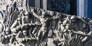 The sculpture of the monument in moscow victory square Stock Image