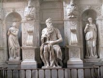 Sculpture of Moses by Michelangelo, San Pietro in Vincoli Rome stock image