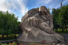 Sculpture The mother`s grief. Memorial complex Mamayev Kurgan in Volgograd. Volgograd, Russia - August 31, 2016: Sculpture The mother`s grief in the square of Stock Image