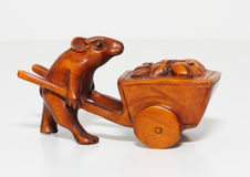 Sculpture mouse Royalty Free Stock Image