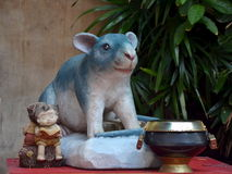 Sculpture of mouse Royalty Free Stock Image