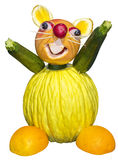 Sculpture mouse of fruit and vegetables Stock Photography