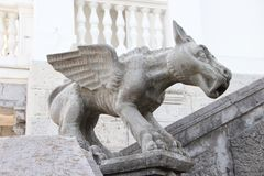 Sculpture of a mythical beast with wings in the Livadia Palace. In the Crimea Stock Photo