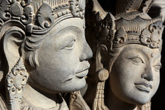 Sculpture of Mythical heroes and Budha Royalty Free Stock Image