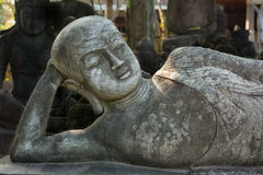 Sculpture of Mythical heroes and Budha Royalty Free Stock Photos