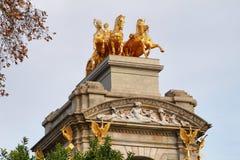 Sculpture of  mythological equestrian on Ciutadella park Royalty Free Stock Photos