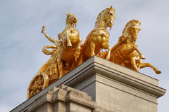 Sculpture of  mythological equestrian on Ciutadella park Royalty Free Stock Photography