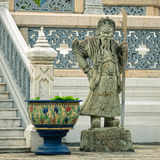 Sculpture of mythological guardian Stock Images
