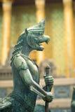 Sculpture of mythological warrior Royalty Free Stock Image