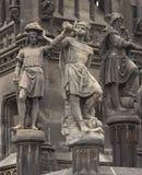 Sculpture néogothique historique d'empereur Frantisek I à Prague photos libres de droits
