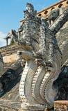 Sculpture of naga Royalty Free Stock Photo