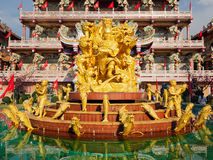 Sculpture of Naja in Chinese Temple Stock Images