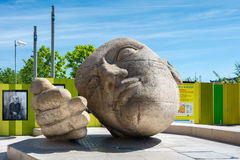 Sculpture named L`ecoute Royalty Free Stock Photos