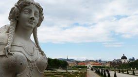 Sculpture near Belveder. A masterpiece near Belveder museum.Vienna,Austria Stock Photo