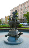 Sculpture. Near Building of the Belarus State Circus on Independence Avenue in Minsk, Belarus Royalty Free Stock Images