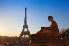 Sculpture near Eiffel tower Stock Images