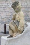 Sculpture near Notre Dame de la Garde in Marseille, France. Marseille's iconic figure, Notre-Dame de la Garde or La Bonne Mère, watches over sailors Royalty Free Stock Photo