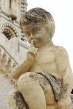 Sculpture near Notre Dame de la Garde, Marseille, France. Marseille's iconic figure, Notre-Dame de la Garde or La Bonne Mère, watches over sailors, fishermen Stock Photography