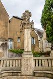Sculpture near Saint Martin churh Royalty Free Stock Photos