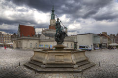 Sculpture of Neptun on the Old Market Square in Poznan Royalty Free Stock Photos