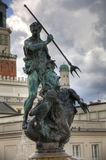 Sculpture of Neptun. Poznan in Poland Royalty Free Stock Photography