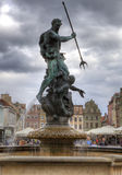 Sculpture of Neptun. Poznan in Poland Royalty Free Stock Images