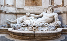 Sculpture of Neptune Royalty Free Stock Photos