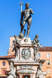 Sculpture of Neptune in Bologna city in sunny day Stock Images