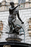 The sculpture of Neptune in Gdansk, Poland. Royalty Free Stock Photos