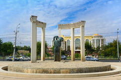 Sculpture Neva and Volga in Astrakhan Royalty Free Stock Photography