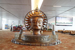 Sculpture at New Delhi International airport Royalty Free Stock Photo