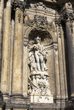 Sculpture in the niche, decorating the gate of Zwinger Royalty Free Stock Images