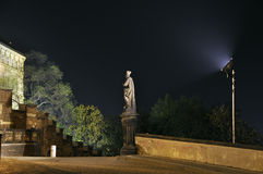 Sculpture in night Stock Image