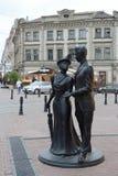 Sculpture `Noble couple` on Bolshaya Pokrovskaya street in Nizhny Novgorod. Royalty Free Stock Photos