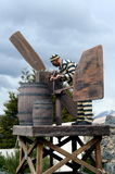 Sculpture Of Convicts In Ushuaia.Ushuaia Is The Southernmost City In The World. Stock Photography