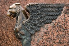 Sculpture Of Griffin Stock Photo