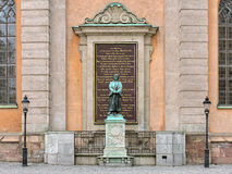 Sculpture of Olaus Petri, a Swedish Protestant Reformer, in Stockholm Royalty Free Stock Image