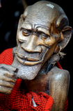 Sculpture of an old African man Royalty Free Stock Photos