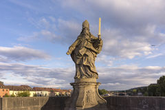 Sculpture on Old bridge in Wurzburg Stock Photography