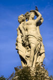 Sculpture of an old fountain in Montpellier. Trois Graces Fountain in Montpellier in France stock images