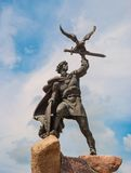 Sculpture Old Russian warrior Royalty Free Stock Photography